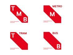 TMB on Behance Branding Design, Logo Design, Graphic Design, Transportation Logo, Barcelona, Brand Identity, Bar Chart, Behance, Logos