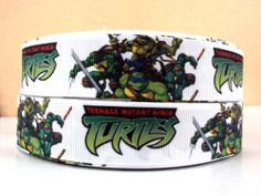 "5 Yards 1"" Teenage Mutant Ninja Turtles Grosgrain Ribbon | eBay"