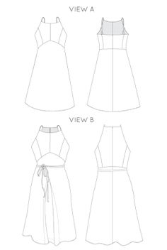 Acton dress pattern, in the folds
