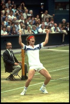 John McEnroe (USA) Winner of four US Opens and three Wimbledon titles.
