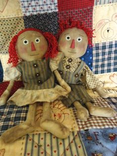 Attic Raggedys Sadie and Sam Primitive Doll Pattern 104 $6.00