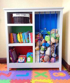 Bibliothèque et rangement pour les jouets