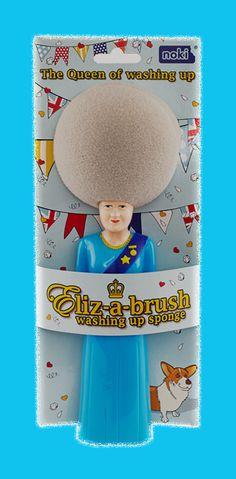 Lava i piatti con la regina…  —  Washing up with the queen…  #queen #elizabeth #washingup #sponge #spugna   —>http://www.richmonds.it/item/spugna-regina-elisabetta.html