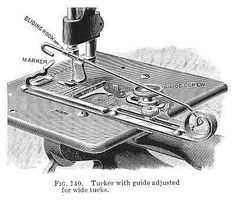 Vintage Willcox and Gibbs Sewing Machine - Tucker attachment