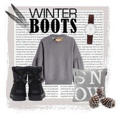 """""""Winter boots❄️"""" by carlotinha-2002 on Polyvore featuring Oris, Burberry, UGG and Abbott Lyon"""