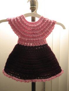 FREE PATTERN Crochet baby or doll dress