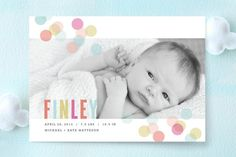 Confetti Birth Announcements by Kristie Kern at minted.com
