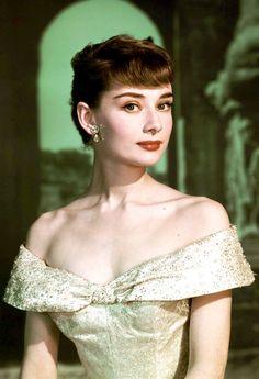 Audrey Hepburn in Princess Ann's dress in Roman Holiday, 1953