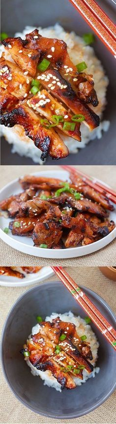 Spicy Korean Chicken – amazing and super yummy chicken with spicy Korean marinade. So easy to make, cheaper, and better than takeout | rasamalaysia.com #KoreanFoodRecipes
