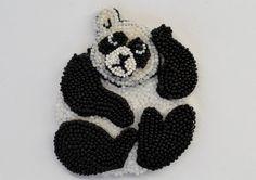 Anna Dehtyareva, Russia. Panda brooch. beadwork