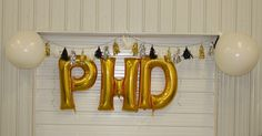 I recapped our of July trip home last week but I wanted to share a few more details and photos from the fun graduation party my parent. Phd Graduation, Graduation Open Houses, College Graduation Parties, Graduation Photos, Grad Parties, Grad Pics, Pinning Ceremony, Gold Balloons, Graduate School