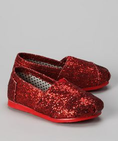 Take a look at this Red Glitter Slip-On Shoe by Shoes of Soul on #zulily today!