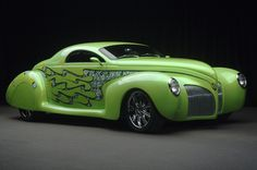 """This is a 1939 Lincoln Zephyr that was modified for Alice Cooper's """"Billion Dollar Babies"""" to suit the theme of the Album."""