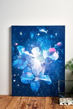 Abstract Flowers Canvas Art