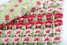 Crochet Spring Flower Blanket Pattern ... pattern is $7.