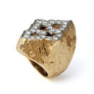 Grima Creations: RINGS: Gold and Diamond Ring, 1973