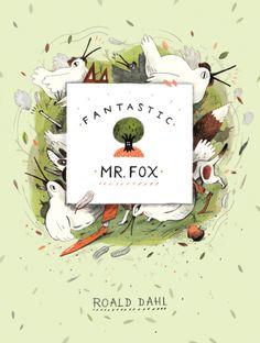 Roald Dahl - Fantastic Mr Fox Thé Illustration, Illustrations, Book Cover Design, Book Design, Roald Dahl Books, Magazin Covers, Fantastic Mr Fox, Photoshop, Layout