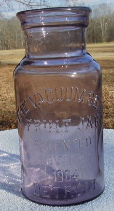 Unlisted  SCA  THE VACUUM SEAL FRUIT JAR (Detroit, Advertising, Antique)