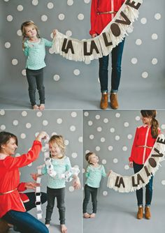 la la love the fringe (banner DIY) done it! Us stay at home moms, (work from home) get to have all the fun!