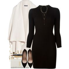 A fashion look from October 2015 featuring Maison Margiela dresses, Alexander McQueen cardigans and Stuart Weitzman pumps. Browse and shop related looks.