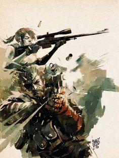 Metal Gear Solid Quiet, Metal Gear Solid Series, Metal Gear Games, Character Art, Character Design, Metal Gear Rising, Ashley Wood, Snake Art, Gear Art