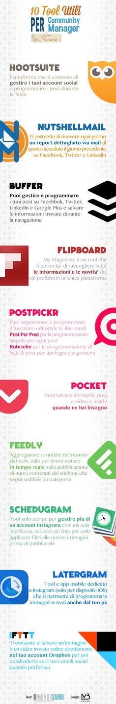 #Tool per Community Manager [ #Infografica ]