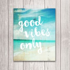Good Vibes Only Beach Print at Dream Big Printables on Etsy!