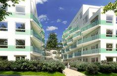Kilenveien K1 - Boligblokker med grønne  balkonger tilpasset en spesiell tomt