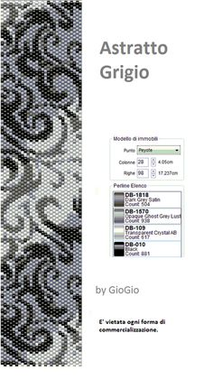 A bead loom pattern I want to use to make a Christmas present for my mom. Astratto Grigio pattern