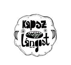 Lángos és Süti logo design sketch by Panka Karácsonyi, via Behance