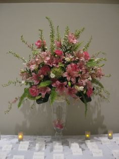 Pink Spring Floral Arrangement by Virginia Wolff