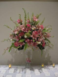 Pink Spring Floral Arrangement by Virginia Wolff