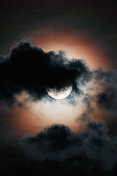 Clouded Moon ~ By Michelle Villarreal Zook