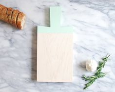 Mint Green Maple Paddle Cutting Board | Host Gift | Wood Cutting Board | Painted Chopping Board | Hostess Gift