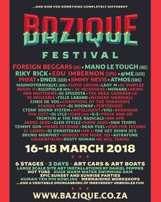 Bazique? Yeah ... I'll be at @baziquefestival   Along with some other lovely people - it will be very lekka you should come!