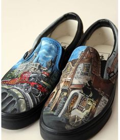 Excited to share this item from my shop: Custom Painted Harry Potter shoes Custom Vans Shoes, Custom Painted Shoes, Painted Vans, Painted Sneakers, Custom Converse, Hand Painted, On Shoes, Me Too Shoes, Shoes Sneakers
