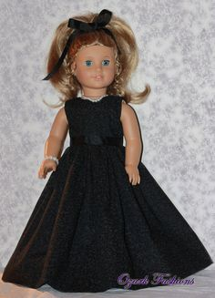 American Girl Doll Dress  Midnight Elegance by OzarkFashions, $19.99