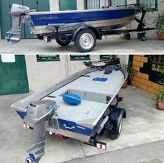 Nice tin boat with custom deck Aluminum Jon Boats, Aluminum Fishing Boats, Small Fishing Boats, Small Boats, Trawler Boats, Tiny Boat, John Boats, Boat Restoration, Wood Boat Plans