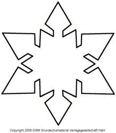 Schneeflocke Vorlage Zum Ausschneiden