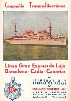 COMPAÑÍA TRASMEDITERRÁNEA, motonave Villa de Madrid 1931