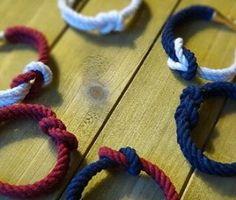 Square Knot Bracelets #squareknot #reefknot #redwhiteandblue #nauticalstyle