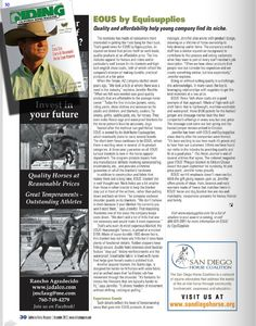 Featured page in California Riding Magazine