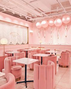 Pink interior design at Pink Pool Café in Seoul, Korea. Look at those pretty pink armchairs Design Retro, Cafe Design, Vintage Design, Pink Home Decor, Home Decor Store, Flat Interior, Interior Design, Interior Sketch, French Interior