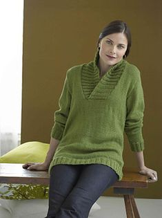 This comfortable pullover is ideal for cool autumn and winter days. (Lion Brand Yarn)