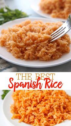 Homemade Spanish Rice, Easy Spanish Rice Recipe, Easy Mexican Rice, Restaurant Spanish Rice Recipe, Spanish Rice Recipes, Crockpot Spanish Rice, Authentic Spanish Rice Recipe, Easy Mexican Dishes, Spanish Meals