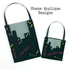 PATTERN Skyline Goody Bag ITH In The Hoop Machine Embroidery Designs (6.00 USD) by OhanaAppliqueDesigns