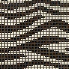 #Bisazza #Decorations Opus Romano Zebra | #Porcelain stoneware | on #bathroom39.com at 374 Euro/box | #mosaic #bathroom #kitchen Crochet Bedspread Pattern, Tapestry Crochet Patterns, Knitting Patterns, Crochet Chart, Filet Crochet, Beaded Jewelry Patterns, Beading Patterns, Crochet Hat With Brim, Mochila Crochet