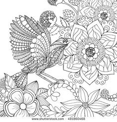 Black white hand drawn doodle. Ethnic patterned vector illustration. Sketch for adult antistress coloring page, tattoo, poster, print, t-shirt