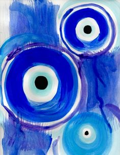 Evil Eyes Art Print by Caitlin Scurria - X-Small Small Canvas Art, Diy Canvas Art, Painting Inspiration, Art Inspo, Evil Eye Art, Image Deco, Eye Illustration, Eyes Wallpaper, Eye Painting