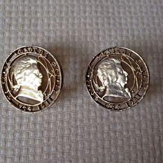 Vintage Wolfgang Amadeus Mozart 1750-1931 Gold Tone Clip Earrings Signed Coro #Coro #Huggie
